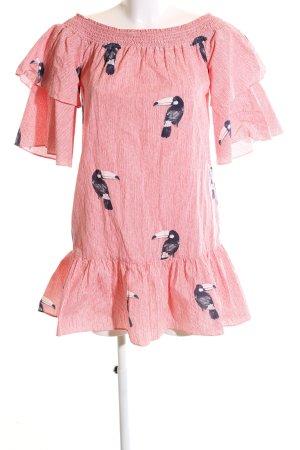 Zara Basic schulterfreies Kleid Allover-Druck Casual-Look