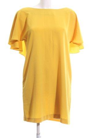 Zara Basic Abito senza spalle giallo pallido stile casual