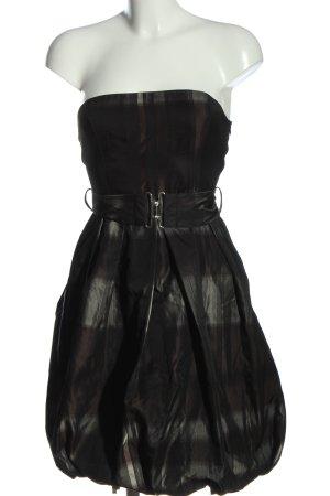 Zara Basic schulterfreies Kleid schwarz Elegant