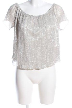 Zara Basic schulterfreies Top wollweiß extravaganter Stil