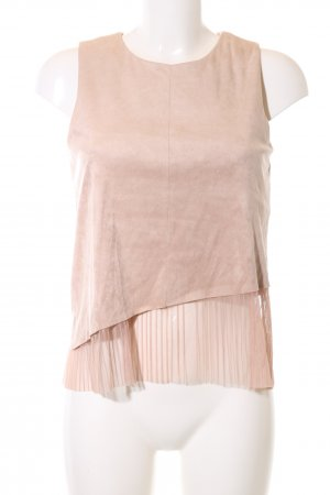 Zara Basic schulterfreies Top creme Casual-Look