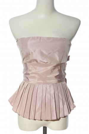 Zara Basic schulterfreies Top pink Elegant