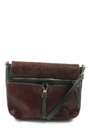 Zara Basic Schultertasche schwarz-rot Casual-Look