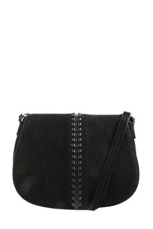 Zara Basic Schultertasche schwarz-silberfarben Casual-Look