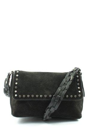 Zara Basic Schultertasche schwarz Casual-Look