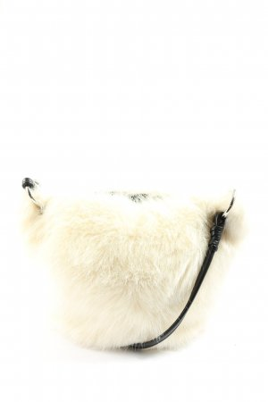 Zara Basic Schultertasche creme-schwarz Elegant