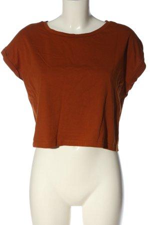 Zara Basic-Shirt hellorange Casual-Look