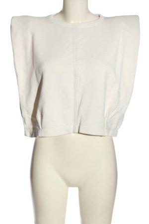 Zara Basic-Shirt wollweiß Casual-Look