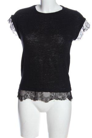Zara Koszulka basic czarny Melanżowy W stylu casual