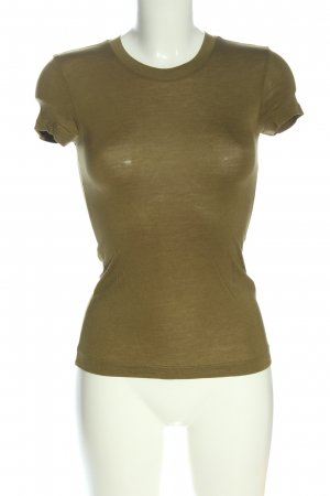 Zara Basic-Shirt khaki Casual-Look