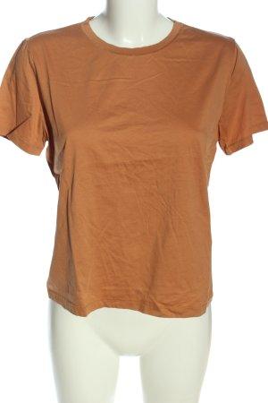 Zara Basic-Shirt braun Casual-Look