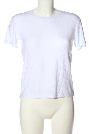 Zara Basic-Shirt weiß Casual-Look