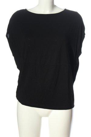 Zara Basic-Shirt schwarz Elegant