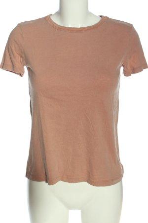 Zara Basic-Shirt nude Casual-Look