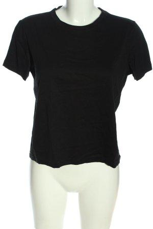 Zara Basic-Shirt schwarz Casual-Look