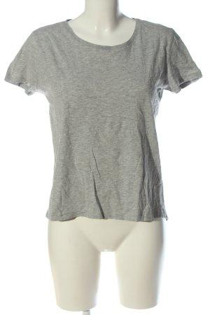 Zara Basic-Shirt hellgrau meliert Casual-Look
