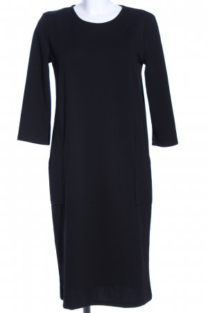 Zara Basic Shirtkleid schwarz Business-Look