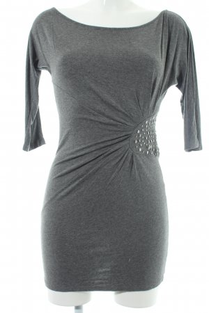 Zara Basic Shirtkleid grau Elegant