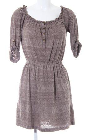 Zara Basic Shirtkleid graubraun Casual-Look