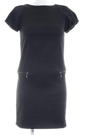Zara Basic Shirtkleid schwarz