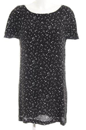 Zara Basic Shirtkleid schwarz-weiß Casual-Look