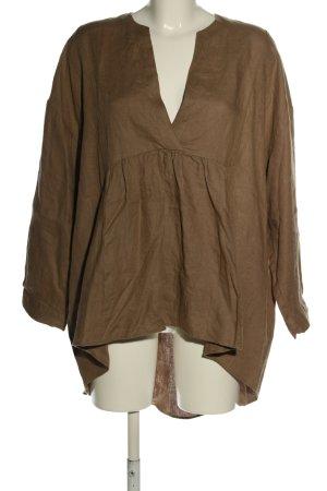 Zara Basic Tunika brązowy W stylu casual