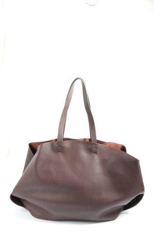 Zara Basic Comprador marrón-rojo look casual