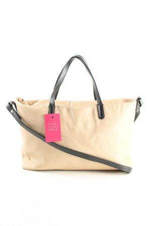 Zara Basic Shopper creme-schwarz Casual-Look