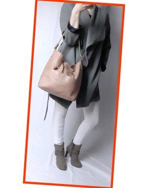 Zara Basic Shopper zandig bruin