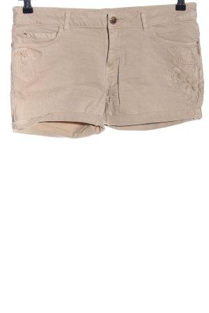 Zara Basic Shorts creme Casual-Look