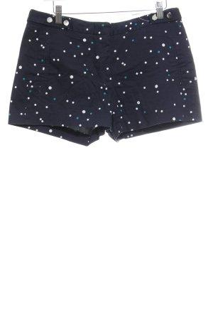 Zara Basic Shorts dunkelblau Punktemuster Casual-Look