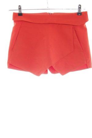 Zara Basic Shorts rot Casual-Look