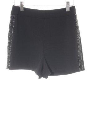 Zara Basic Shorts schwarz Casual-Look
