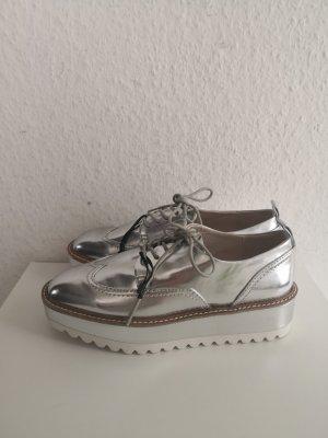 Zara Basic Budapester biały-srebrny