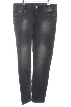 Zara Basic Skinny Jeans hellgrau-schwarz Casual-Look