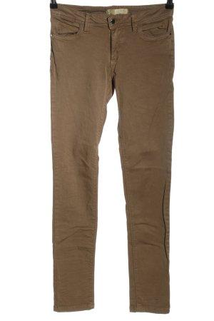 Zara Basic Skinny Jeans braun Casual-Look