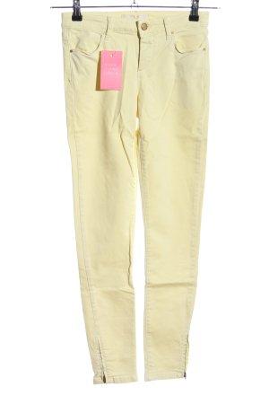 Zara Basic Skinny Jeans blassgelb Casual-Look