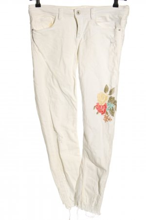 Zara Basic Skinny Jeans Blumenmuster Casual-Look