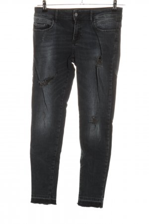 Zara Basic Jeans skinny grigio chiaro-nero stile casual