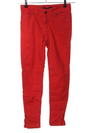 Zara Basic Skinny Jeans rot Casual-Look
