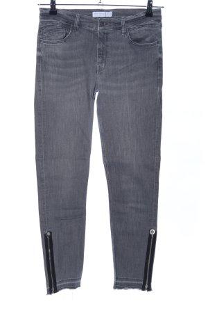 Zara Basic Vaquero skinny gris claro look casual