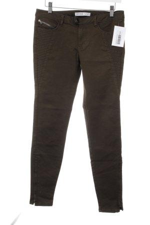Zara Basic Skinny Jeans khaki Military-Look