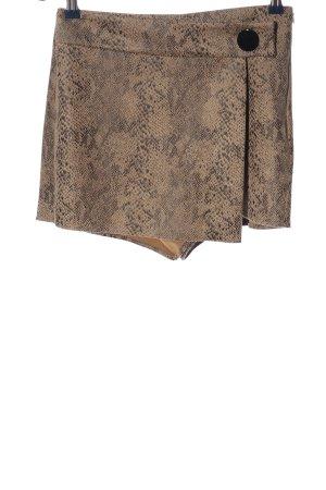 Zara Basic Skorts nude-light grey allover print casual look