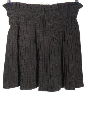 Zara Basic Skorts schwarz-hellgrau Allover-Druck Casual-Look