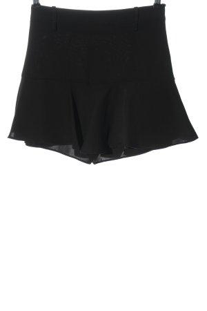 Zara Basic Spódnico-spodenki czarny W stylu casual