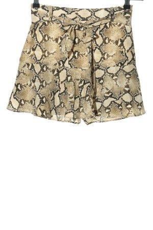 Zara Basic Skorts creme-braun Allover-Druck Casual-Look