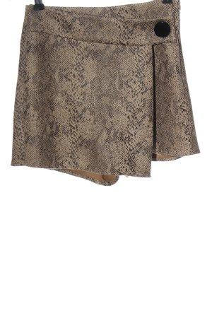 Zara Basic Spódnico-spodenki brązowy Na całej powierzchni W stylu casual