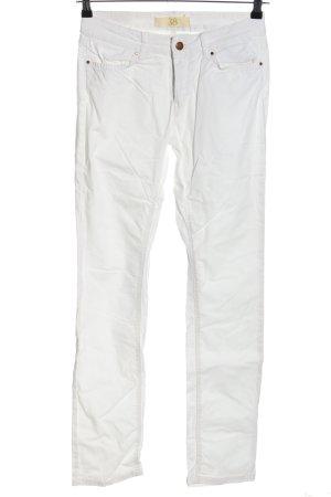 Zara Basic Slim Jeans weiß Casual-Look