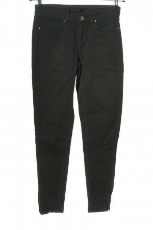 Zara Basic Slim Jeans braun Casual-Look