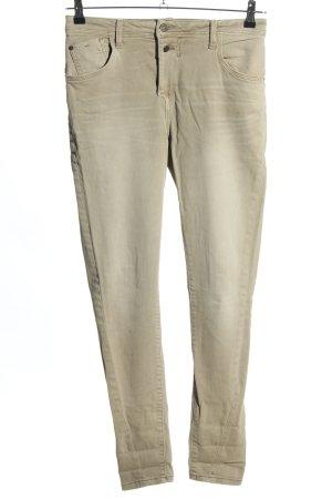 Zara Basic Slim Jeans creme Casual-Look